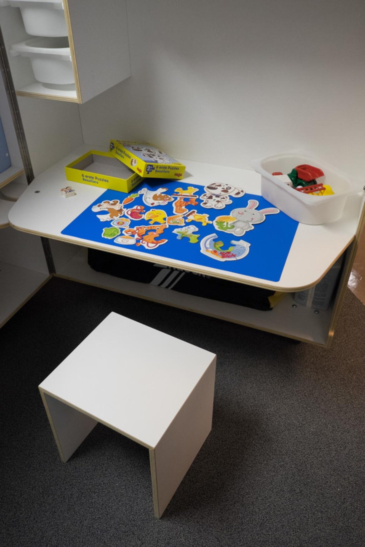 Spieleecke im Eltern-Kind-Zimmer