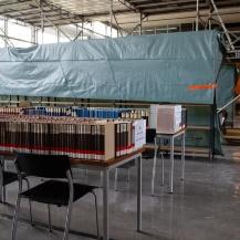 Baustellengerüst Lesesaal