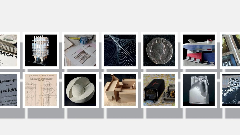 Collage mit Objekten aus den Universitätssammlungen