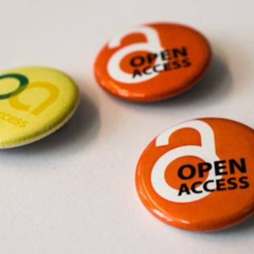 Buttons mit Logos der Open Access Bewegung